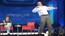 Steve Ballmer podczas charakterystycznego dla siebie żywiołowego wystąpienia