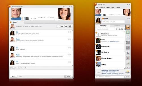 Gadu-Gadu 10.5 - interfejs komunikatora