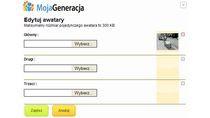 Edycja awatarów na profilu MojaGeneracja.pl