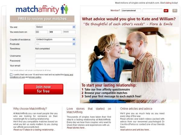 Serwisy matrymonialne: MatchAffinity