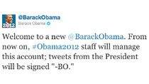 Twitter Baracka Obamy informuje o osobistych wpisach prezydenta