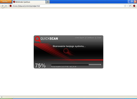 BitDefender QuickScan - dodatek do Firefoksa