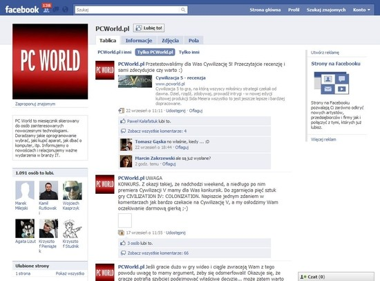 PC World: oficjalna strona na Facebooku
