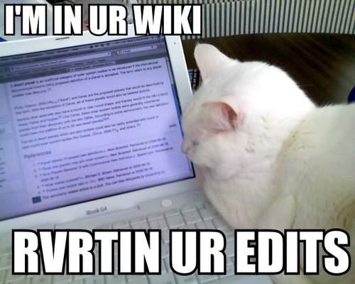 """""""Jestem w twojej Wikipedii, cofam twoje edycje"""" (fot. wiki)"""
