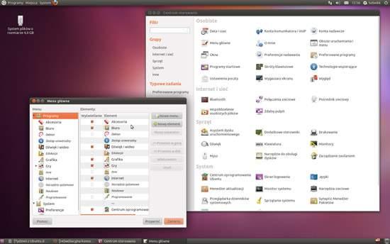 Ubuntu 11.04: Centrum sterowania