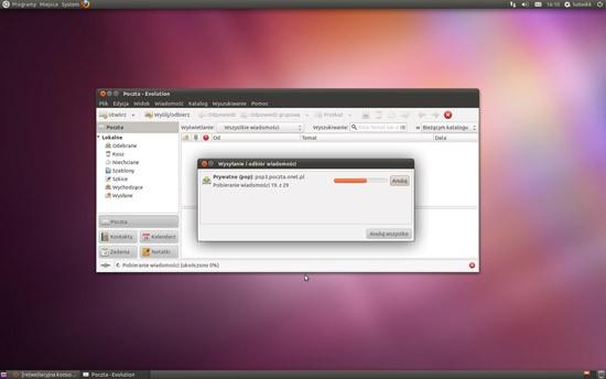 Ubuntu 11.04. Klient poczty elektronicznej Evolution