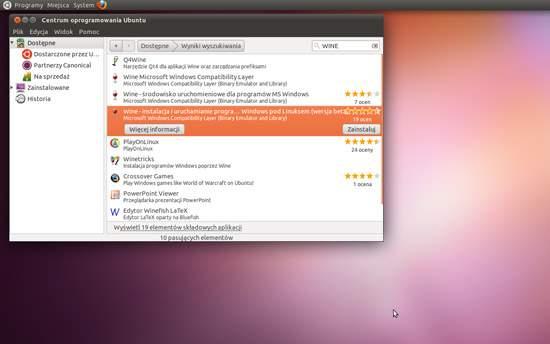 Ubuntu 11.04. Po co korzystać  z google, skoro mamy Centrum Oprogramowania...