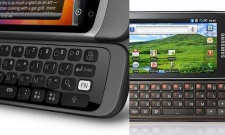 HTC Desire Z kontra Samsung Galaxy 551 - pojedynek na klawiatury