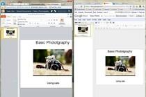 Tworzenie prezentacji multimedialnych w PowerPoint Web App i Google Docs Presentation.