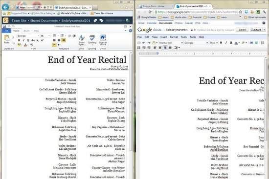 Office 365 i Google Docs - edytory tekstu