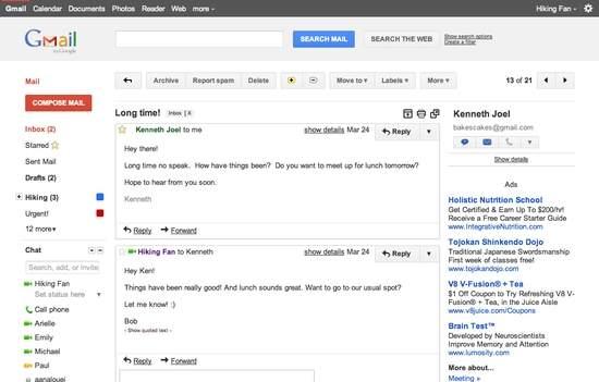 Odświeżony interfejs poczty Gmail wygląda bardzo podobnie do Google Plus. Kliknij, aby dowiedzieć się więcej o serwisie społecznościowym, który nazywany jest jednym z największych wyzwań w historii firmy z Mountain View...