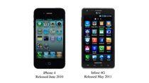 iPhone 4 oraz Infuse 4G (fot. wniosek Apple z 01.07.2011)