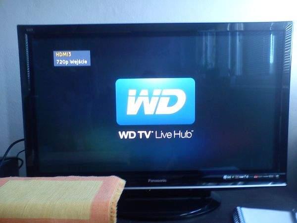 WD TV Live Hub na ekranie