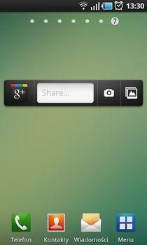 Widżet Google  oferuje szybki dostęp do kilku funkcji aplikacji.