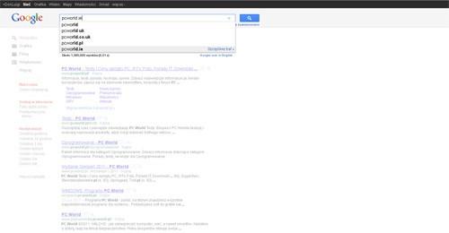 Wyszukiwanie w trybie Instant