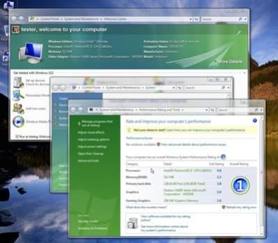 Windows Performance Rating w akcji