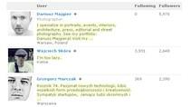 Najchętniej obserwowani polscy użytkownicy Google Plus.