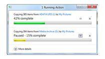 Windows 8 - okno z aktywny i wstrzymanym zadaniem