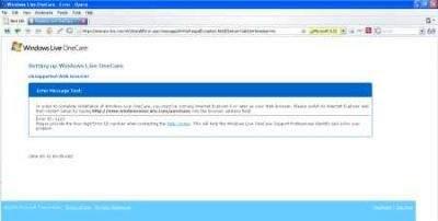 OneCare dostępny tylko dla Amerykanów korzystających z Internet Explorera