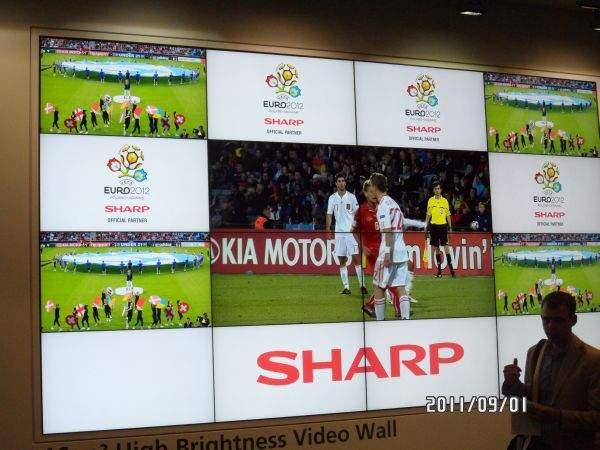 Wideościana Sharp na Euro 2012