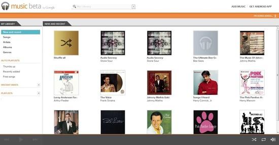Google Music pozwala na przechowywanie muzycznych zbiorów na serwerach Google. Za pomocą odpowiedniego narzędzia można wgrać swoje utwory i słuchać ich następnie (po zalogowaniu na swoje konto) w dowolnym czasie z poziomu dowolnego komputera lub urządzenia pracującego pod kontrolą systemu Android.