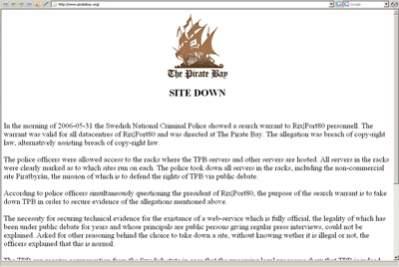 PirateBay.org zamknięty