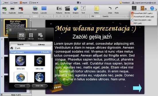 280 Slides to szybki i łatwy sposób na przygotowanie efektownej prezentacji, bez konieczności instalowania PowerPointa czy pakietu LibreOffice.