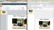Porównanie: tworzenie prezentacji multimedialnych w PowerPoint Web App i Google Docs Presentation.