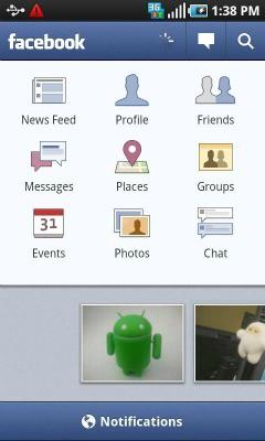 Screen z mobilnej aplikacji Facebook'a