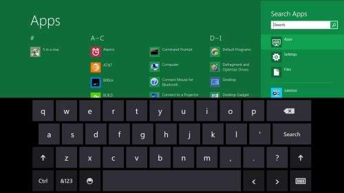 Wirtualna klawiatura Windows 8