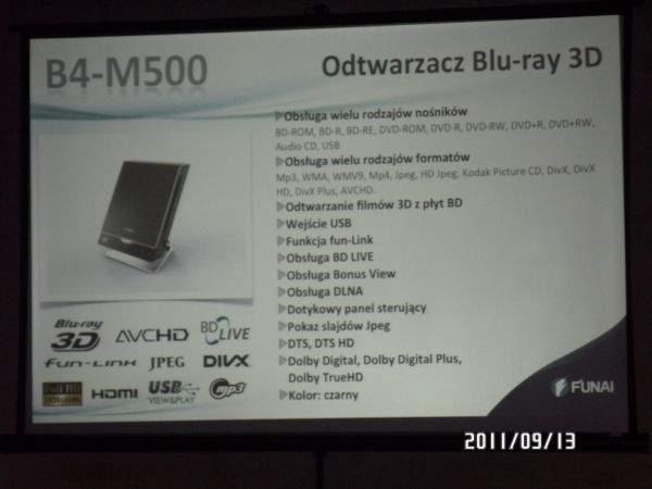 funai b4-m500 specyfikacja