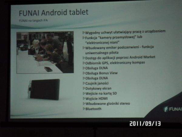 Funai Android Tablet