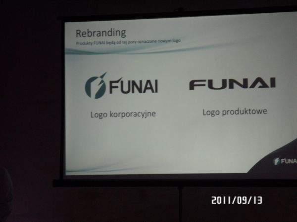 Nowe logo Funai