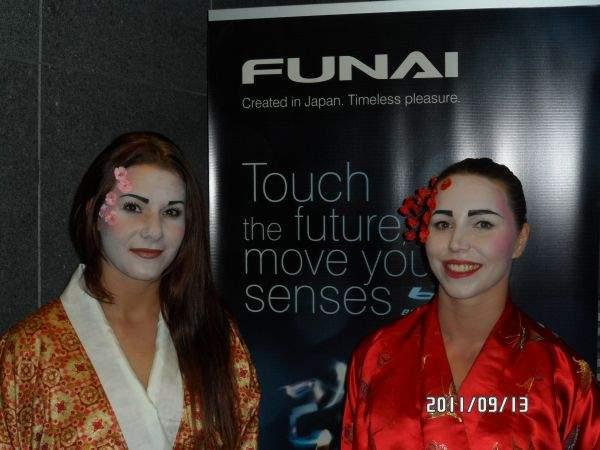 Funai - modelki w kimonach