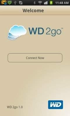 Ekran logowania w aplikacji WD2go