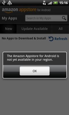Blokada regionalna w Amazon Appstore