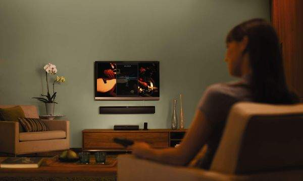 Bose soundbar w salonie