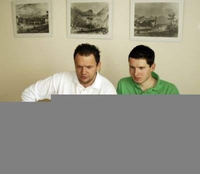 Twórcy Grono.net. Od lewej: Robert Rogacewicz, Wojciech Sobczuk