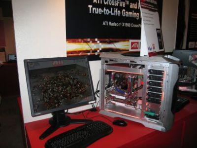 Na żywo można było się przekonać, że sprzętowe wspomaganie obliczen fizycznych rzeczywiście działa i pozwala na wydajniejszą pracę komputera
