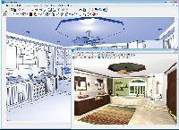 Projekt techniczny i wizualizacja łazienki wykonana za pomocą programu Chief Architect Home Designer