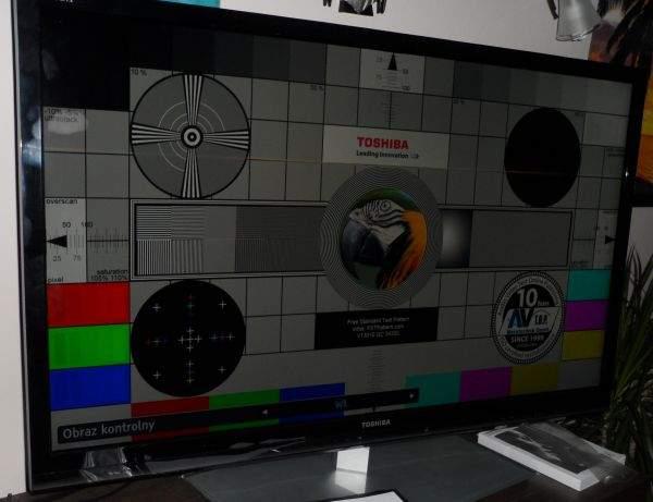 Toshiba UL863 LED LCD TV - obraz kontrolny