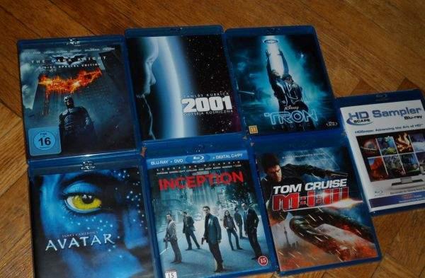 Filmy Blu-ray - zestaw testowy