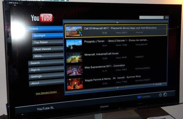 Toshiba UL863 LED LCD TV - YouTube