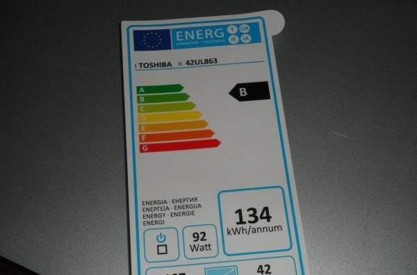 Toshiba UL863 LED LCD TV - ekoetykieta