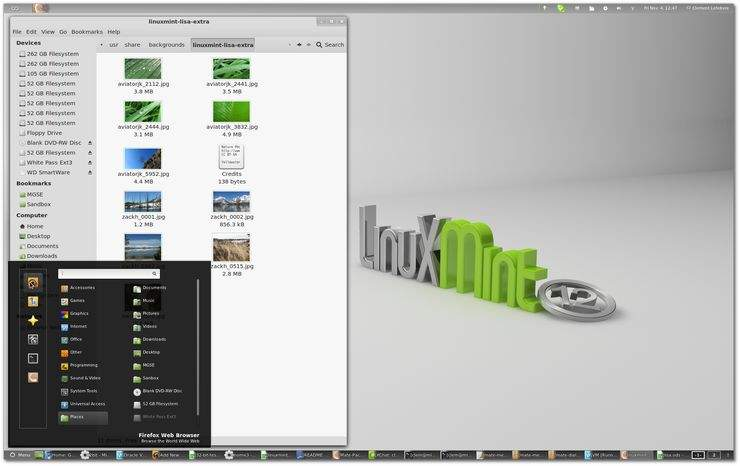 Linux Mint 12 z GNOME 3 i MGSE
