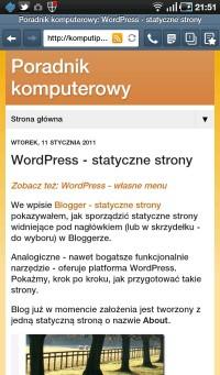 Artykuł w systemie Blogger