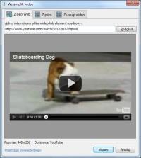 Osadzanie klipu o podanym adresie internetowym