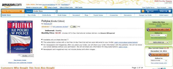 Polityka na Kindle Store