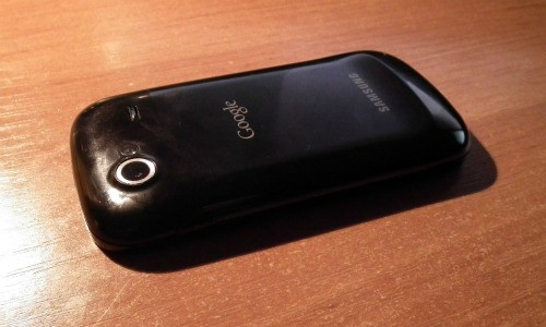 Samsung Nexus S widziany od tyłu