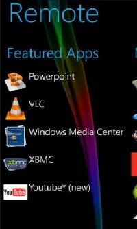 PC Remote - dla niektórych aplikacji przewidziano dedykowane elementy strujące